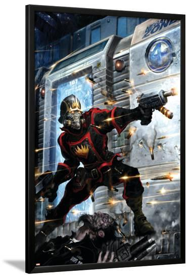 Guardians Of The Galaxy No.9 Cover: Star-Lord-Clint Langley-Lamina Framed Poster