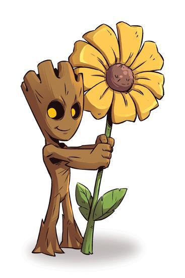 Guardians of the Galaxy Panel Featuring Groot--Art Print