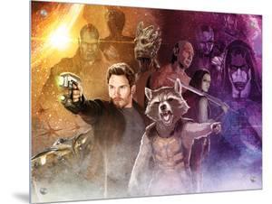 Guardians of the Galaxy - Star-Lord, Rocket Raccoon, Groot, Drax, Gamora, Ronan the Accuser