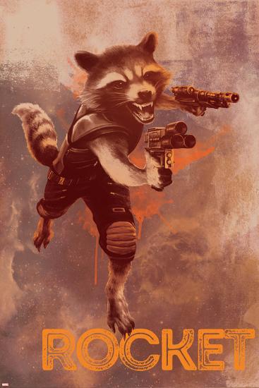 Guardians of the Galaxy: Vol. 2 - Rocket Racoon--Art Print