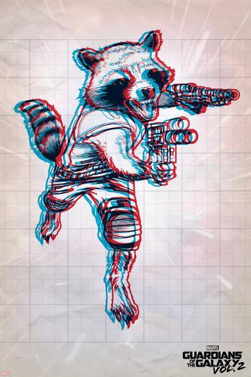 Guardians of the Galaxy: Vol. 2 - Rocket the Racoon--Art Print