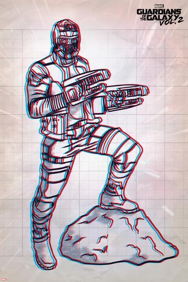 Guardians of the Galaxy: Vol. 2 - Star-Lord--Art Print