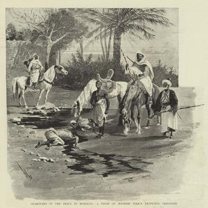 Guardians of the Peace in Morocco, a Troop of Moorish Police Escorting Prisoners