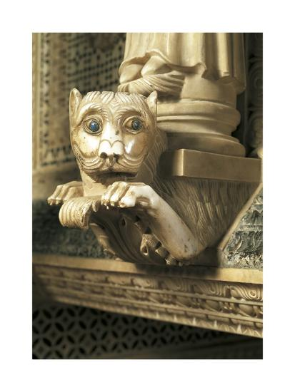Guarding Lion, Detail of Decorations, San Miniato Al Monte--Giclee Print