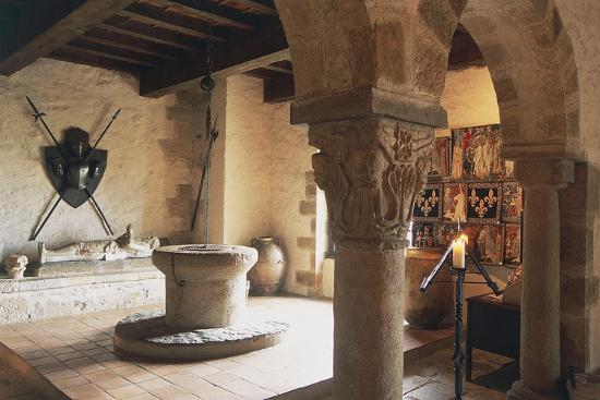 Guardroom of Chateau of Busseol, Founded in 12th Century, Auvergne, France--Photographic Print