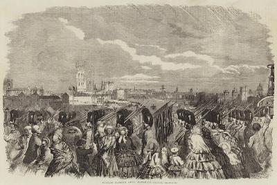 Guards Passing over Vauxhall-Bridge--Giclee Print
