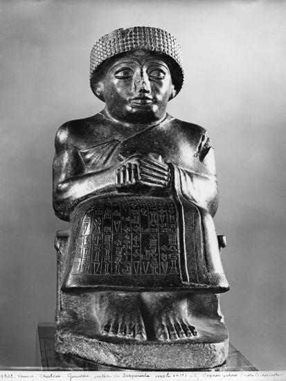 Gudea, Prince of Lagash, Dedicated to Ningizzada, Neo-Sumerian, Telloh, Ancient Girsu, c.2130 BC- Mesopotamian-Giclee Print