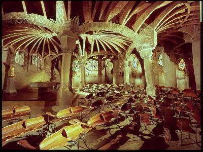 Guell Crypt with Its Tilted Column, Built by Antonio Gaudi-Antoni Gaud?-Giclee Print