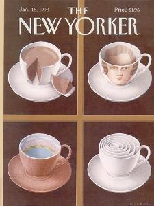 The New Yorker Cover - January 18, 1993 by Gürbüz Dogan Eksioglu