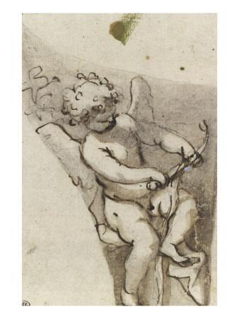Suzanne au bain ; L'amour bandant son arc ; Sainte Catherine agenouillée, regardant le ciel