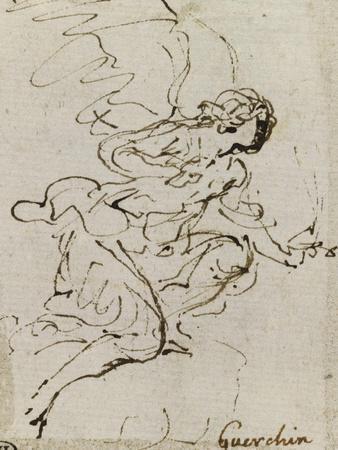 Un ange, de profil vers la droite ; Une demi-figure d'enfant tourné vers la gauche ; Une figure à