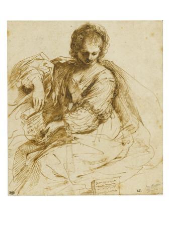 Woman, Sitting Down a Parchment: the Sibyl of Cumae
