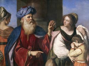 Abraham Banishes Hagar by Guercino