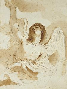 An Angel by Guercino