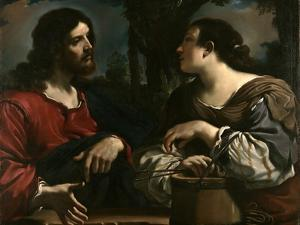 Christ and the Samaritan Woman at Jacob's Well by Guercino