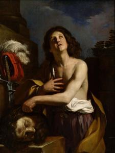 David with the Head of Goliath, C. 1650 by Guercino