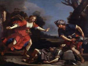Erminia Finding the Wounded Tancredi by Guercino