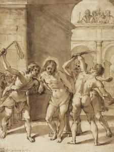 Flagellation of Christ by Guercino