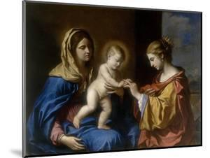 Mystical Marriage of St. Catherine, Conserved at the Galleria Estense in Modena by Guercino (Giovanni Francesco Barbieri)