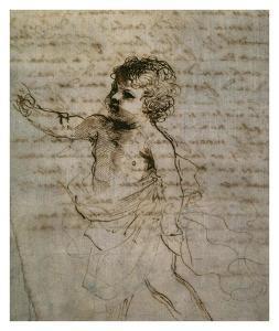 Sketch of a Child by Guercino (Giovanni Francesco Barbieri)