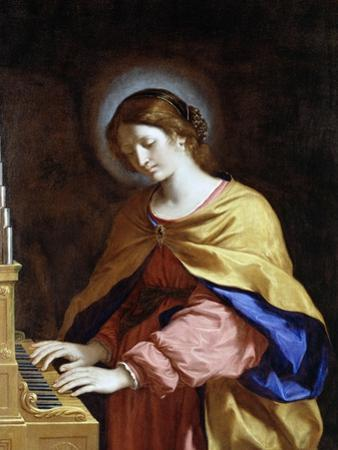 St. Cecilia, C.1649 by Guercino (Giovanni Francesco Barbieri)