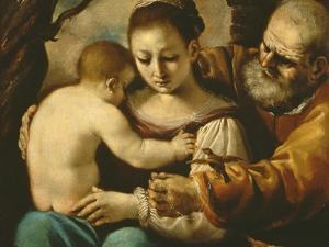 Holy Family by Guercino