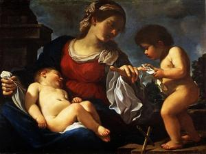 Madonna and Child with the Young Saint John the Baptist, C.1615-16 by Guercino