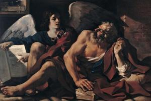 Saint Matthew and the Angel, 1622 by Guercino