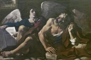 St Matthew and the Angel, 1621-23 by Guercino