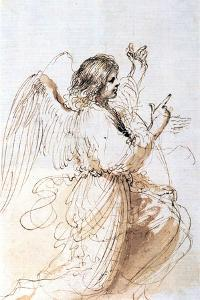 Study of an Angel, C1611-1666 by Guercino