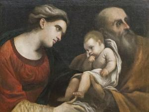 The Holy Family, 1615-16 by Guercino