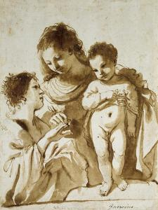 The Mystic Marriage of St Catherine by Guercino