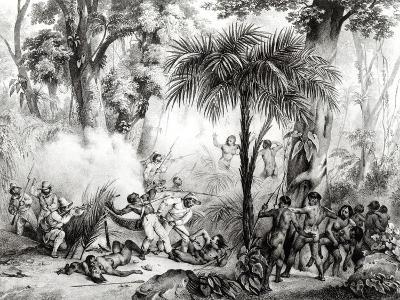 Guerillas, Engraved by Victor Adam-Johann Moritz Rugendas-Giclee Print