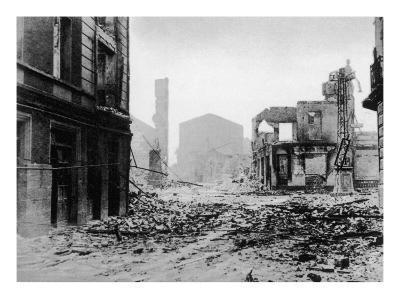 Guernica after Bombing, Spanish Civil War, 1937--Giclee Print