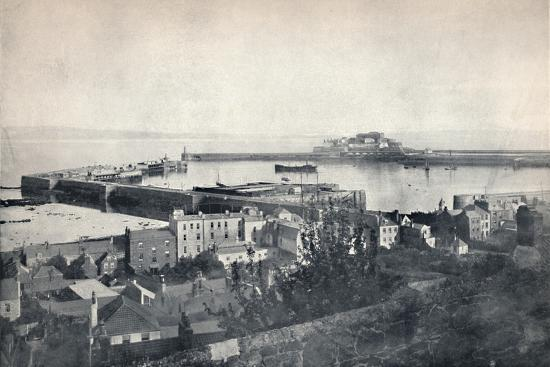 'Guernsey - St. Peter-Port and Castle Cornet', 1895-Unknown-Photographic Print