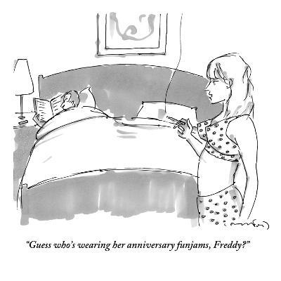 """Guess who's wearing her anniversary funjams, Freddy?"" - New Yorker Cartoon-Michael Crawford-Premium Giclee Print"