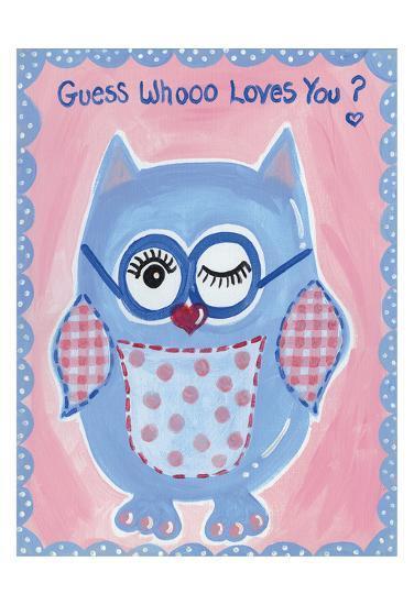 Guess Whooo-Tammy Hassett-Art Print