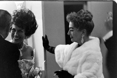 Guests Smoking and Talking at the Met Fashion Ball, New York, New York, November 1960-Walter Sanders-Photographic Print