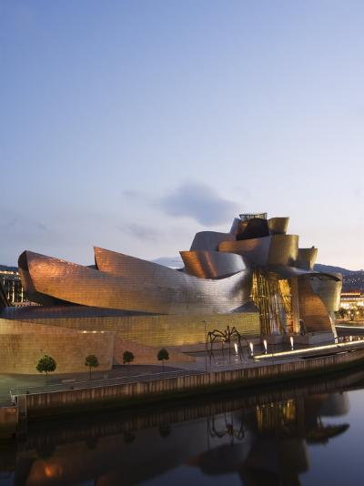 Guggenheim Modern Art Museum Designed by Frank Gehry, Bilbao, Basque Country, Euskadi, Spain-Christian Kober-Photographic Print