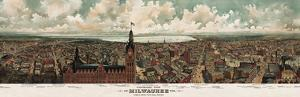 Panoramic View of Milwaukee, Wisconsin, 1898 by Gugler Litho^