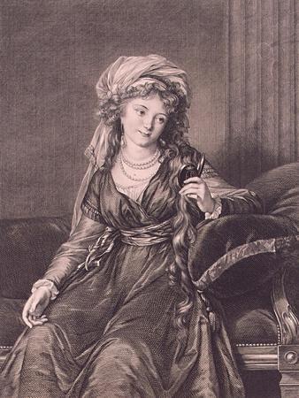 Portrait of Countess Yekaterina Skavronskaya, Née Von Engelhardt (1761-182), 1791