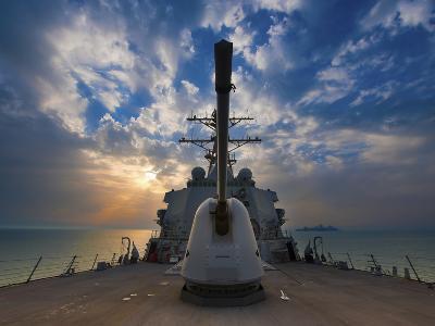 Guided-Missile Destroyer USS Higgins-Stocktrek Images-Photographic Print