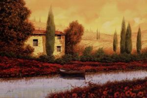 Al Tramonto Sul Fiume by Guido Borelli