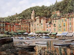 Barche a Portofino by Guido Borelli