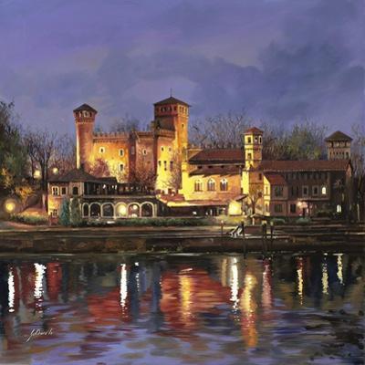 Il Castello Medioevale di Notte by Guido Borelli