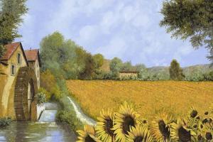 IL Mulino e i Girasoli by Guido Borelli