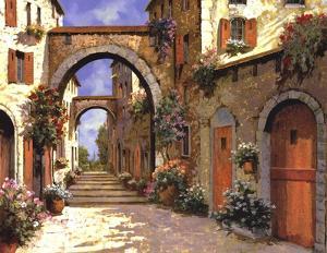 Le Porte Rosse Sulla Strada by Guido Borelli