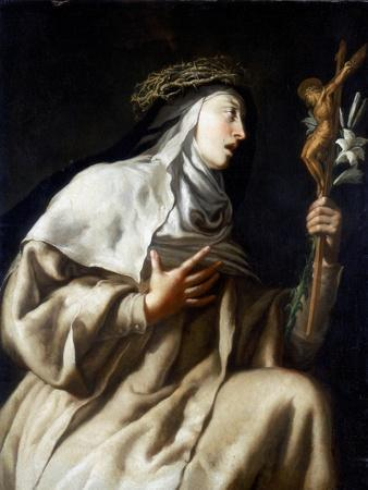 St Teresa of Avila before the Cross, C1621-1663