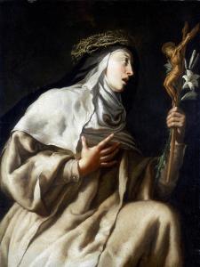 St Teresa of Avila before the Cross, C1621-1663 by Guido Cagnacci