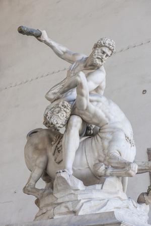 Piazza Signoria, Loggia Dei Lanzi, Ercole E Il Centauro, by Giambologna by Guido Cozzi